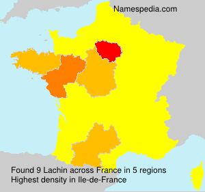 Surname Lachin in France