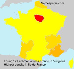 Familiennamen Lachman - France