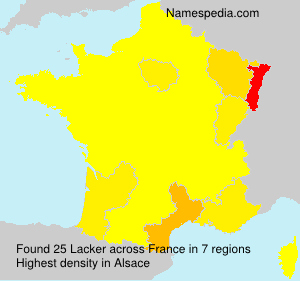 Surname Lacker in France