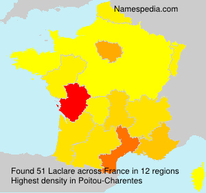 Surname Laclare in France