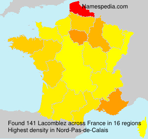 Surname Lacomblez in France