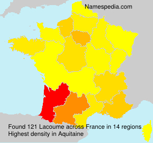 Surname Lacoume in France