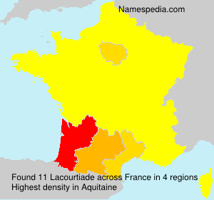 Surname Lacourtiade in France