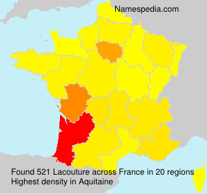 Surname Lacouture in France