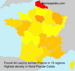 Surname Laczny in France