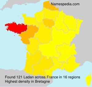 Familiennamen Ladan - France