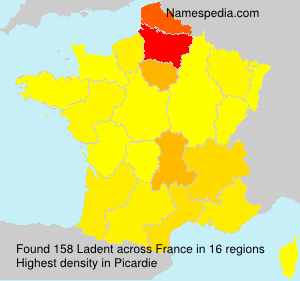 Surname Ladent in France