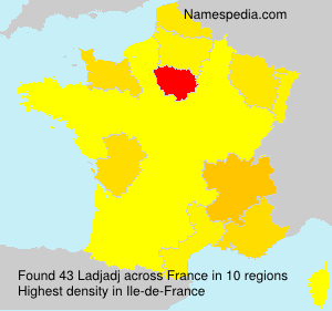 Surname Ladjadj in France