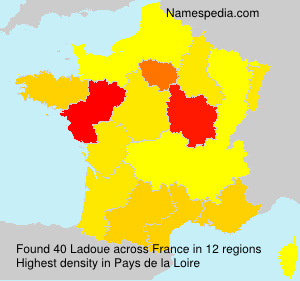 Surname Ladoue in France