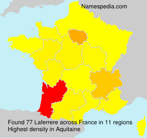 Surname Laferrere in France