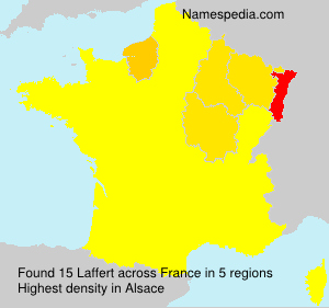 Surname Laffert in France