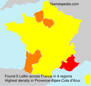 Familiennamen Lafkir - France