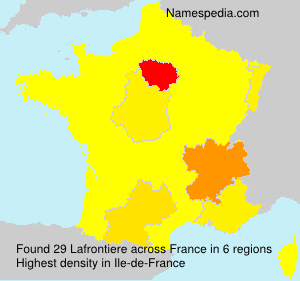Surname Lafrontiere in France