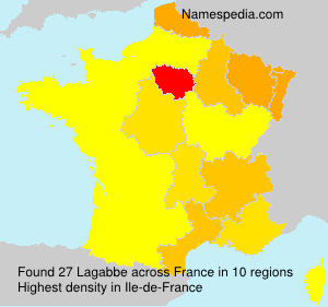 Surname Lagabbe in France