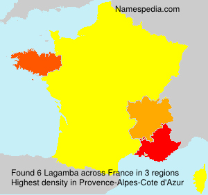 Surname Lagamba in France