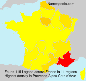 Surname Lagana in France