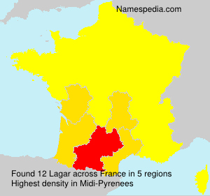 Surname Lagar in France