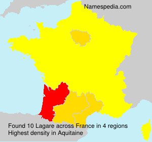 Surname Lagare in France