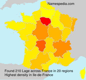 Surname Lage in France