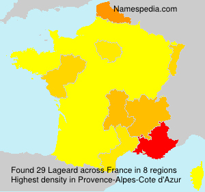 Surname Lageard in France
