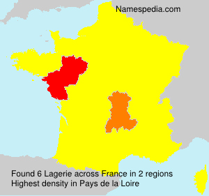 Surname Lagerie in France