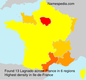Surname Lagnado in France