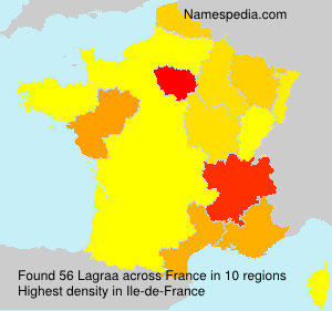 Surname Lagraa in France