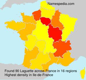 Surname Laguette in France