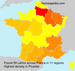 Surname Lahire in France