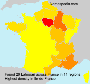 Surname Lahouari in France