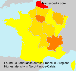 Surname Lahouassa in France