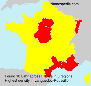 Surname Lahr in France