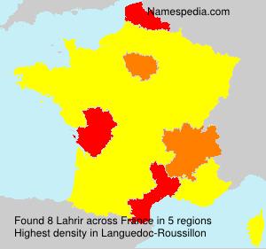 Surname Lahrir in France