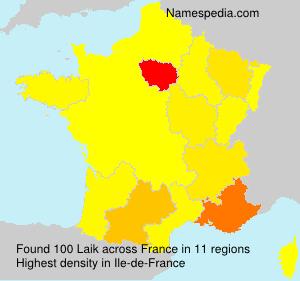 Familiennamen Laik - France