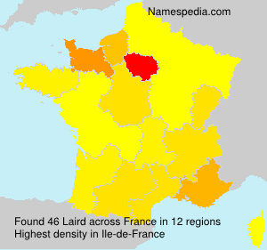Surname Laird in France
