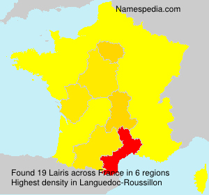 Surname Lairis in France