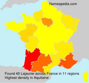 Familiennamen Lajaunie - France