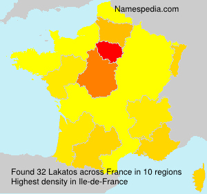 Surname Lakatos in France