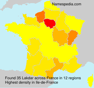 Surname Lakdar in France