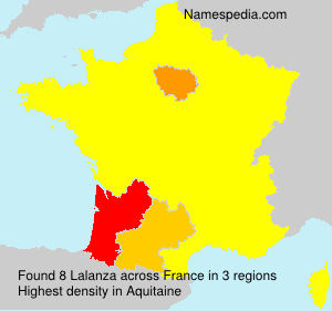 Surname Lalanza in France