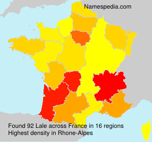 Surname Lale in France