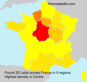 Surname Laliat in France