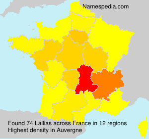 Surname Lallias in France