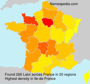 Surname Laloi in France