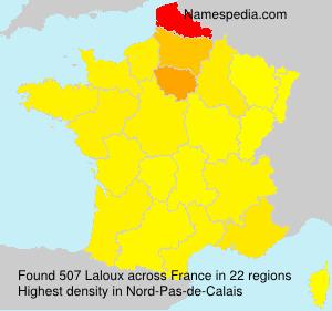 Familiennamen Laloux - France