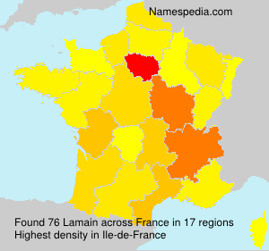 Surname Lamain in France