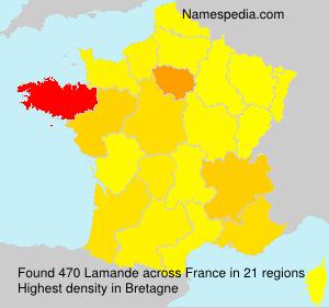 Familiennamen Lamande - France