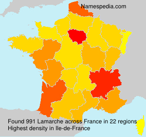 Surname Lamarche in France