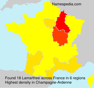 Surname Lamarthee in France