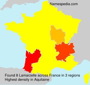Surname Lamarzelle in France